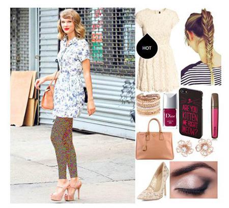Taylor Swift 4 مدل های ست لباس بهاری تیلور سویفت جهت بهار
