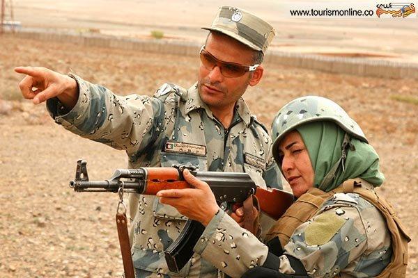 عکس از زن افغان کماندو
