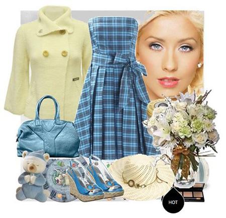 christinaaguilera (5)ست کردن پیراهن بهاری به سبک کریستینا اگیلرا