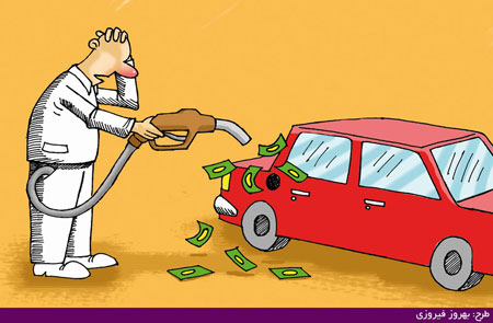 عکس های خنده دار بنزین دو نرخی