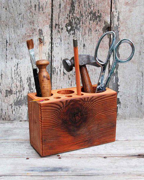 جای ابزار و جا قلمی چوبی یک هدیه عالی برای روز پدر