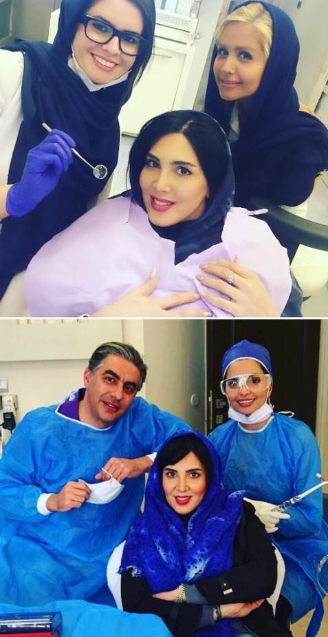 عکس های داغ لیلا بلوکات با دکتر دندانپزشک!