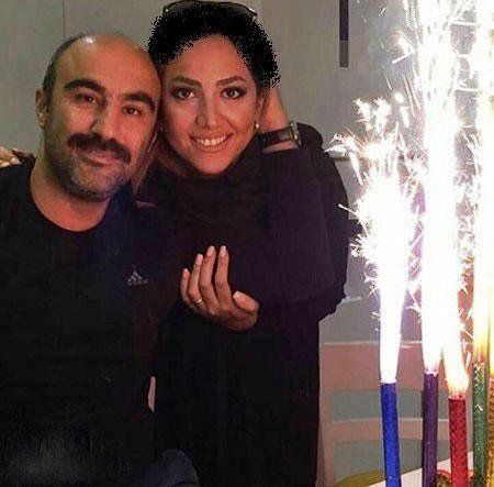 عکس همسر محسن تنابنده در جشن تولد همسرش