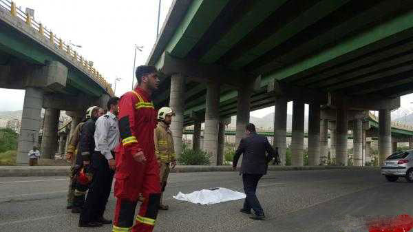 عکس های خودکشی دختر 18 ساله از بالای پل ولایت تهران