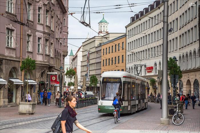 عکس های شهر زیبا و آرام Augsburg در آلمان