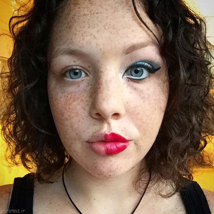 عکس های جالب زنان ضد آرایش!