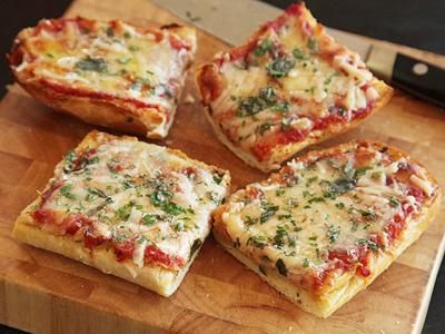 با نان ساندویچی پیتزای یک نفره درست کنید
