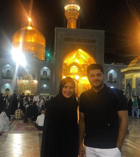 عکس سام درخشانی و زنش با چادر در مشهد