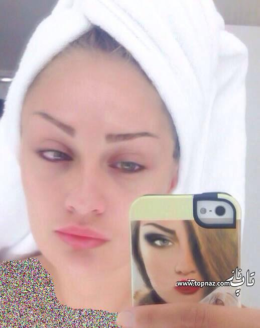 عکس جالب چهره بدون آرایش طلا گلزار
