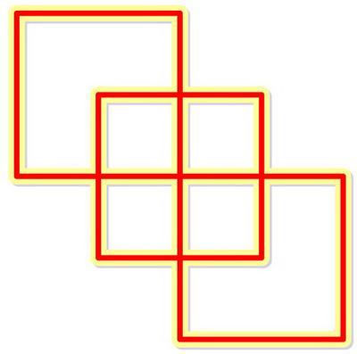 تست هوش تصویری پیدا کردن مسیر بین مربع ها