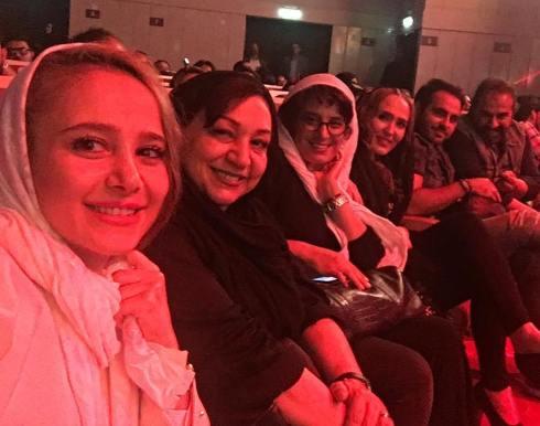 عکس سلفی الناز حبیبی در کنار بازیگر زن در کنسرت میثم ابراهیمی