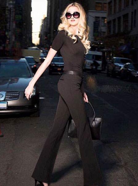 عکس های قد بلندترین مدل زن که به او زرافه می گویند!