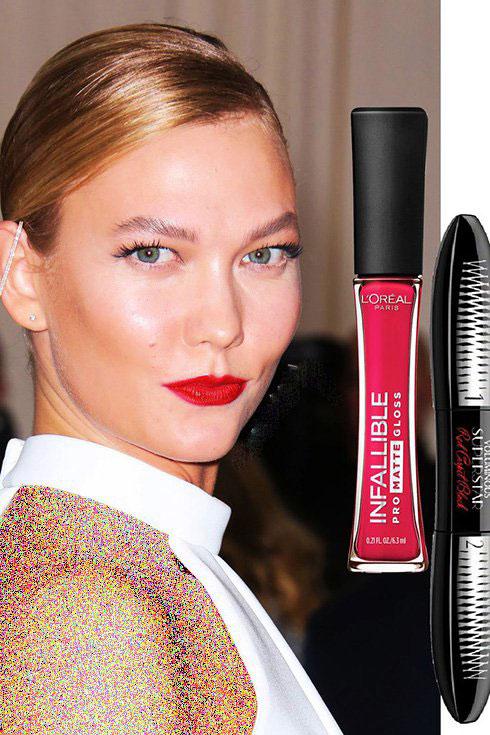 مدل آرایش کارلی کلاوس karlie kloss در مت گالا Met gala 2016