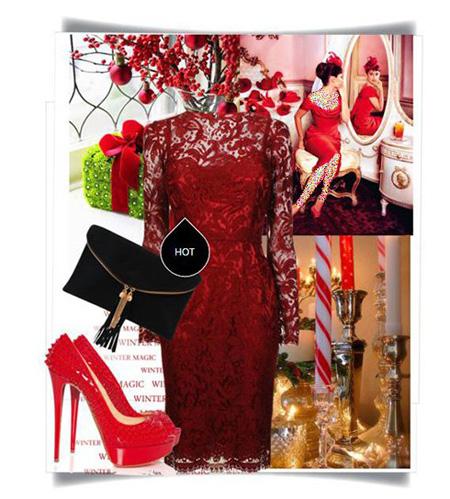 ست کردن لباس شب به رنگ قرمز به سبک پنه لوپه کروز Penelope Cruz