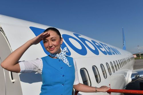 مهماندار زن هواپیمایی روسی پوبدا
