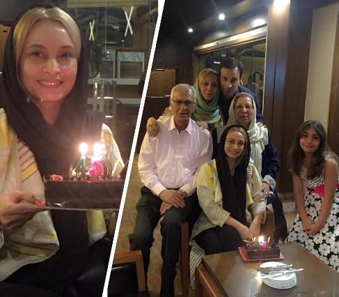 عکس مریم کاویانی در جشن تولدش