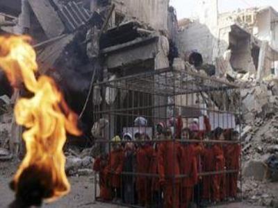 زنده سوزاندن 19 دختر کرد توسط داعش