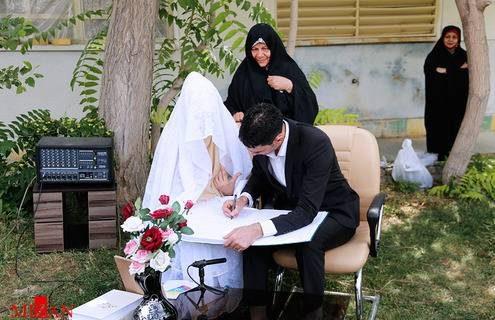 عکس های مراسم جشن عقد خانم جوان با محکوم اعدامی