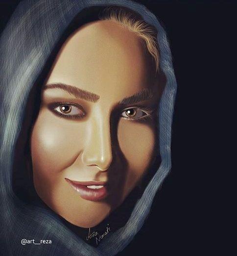 عکس دیدنی از نقاشی چهره آنا نعمتی