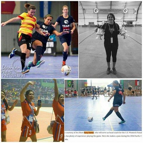 رکسانا کمال خانم ایرانی مربی تیم فوتسال آمریکا (عکس)