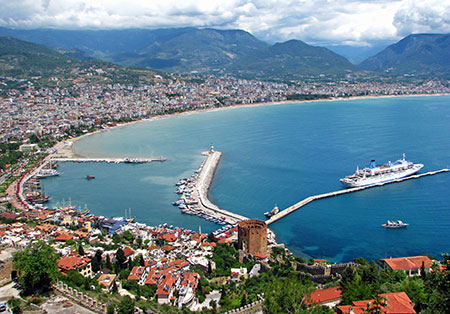 """شهر زیبای ساحلی """"آلانیا"""" در ترکیه"""