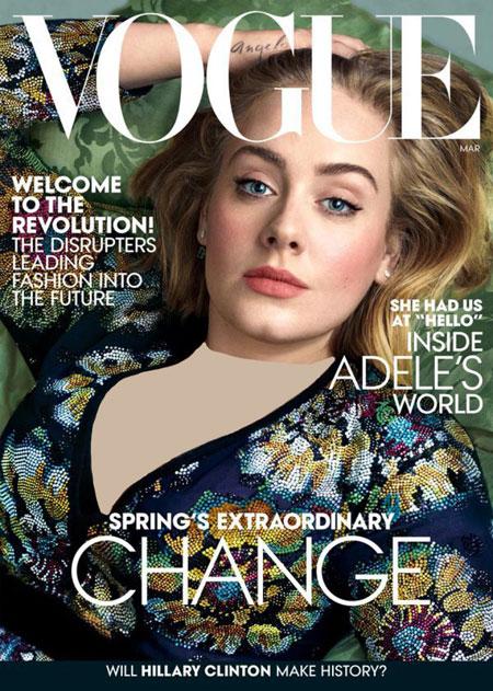 عکس های جذاب ادل Adele روی جلد مجله Vouge