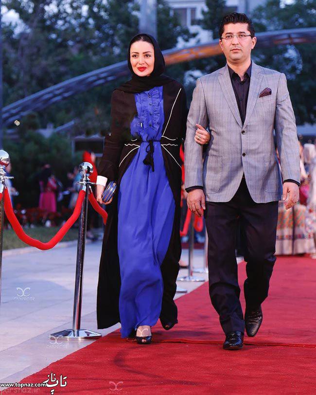 عکس بازیگران و همسرانشان - شیلا خداداد با همسرش در جشن حافظ