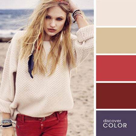 ست لباس های رنگی در تابستان با رنگ های تند