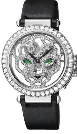 ساعت مچی «اسکلت پلنگ» از جنس طلا و الماس از کارتیه