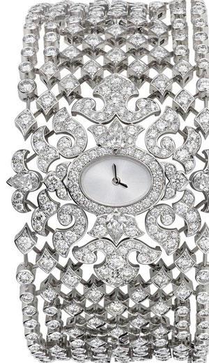 ساعت مچی جواهرنشان از جنس طلا با الماس از کارتیه