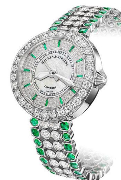 ساعت مچی «هارودز پرینسس» با الماس و زمرد از بکس اند اشتراوس