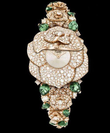 ساعت مچی «راز رز» از طلای زرد 18 عیار و الماس هایی با برش برلیان از پیاژه