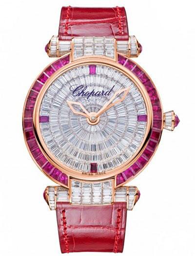 ساعت مچی 36 میلیمتری «ایمپریال» از طلای صورتی 18 عیار با الماس و لعل از شوپارد