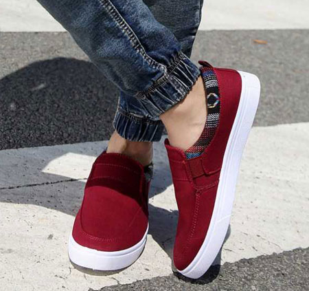 ع کفش اسپرت پا برای پروفایل مدل کفش کتونی تابستانی دخترانه جدید