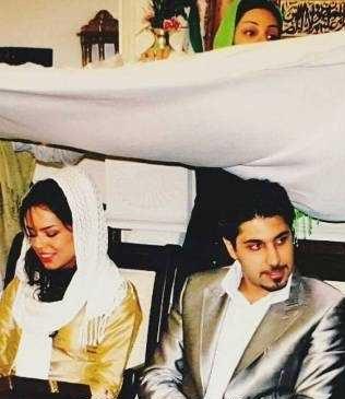 عکس از مراسم عقد احسان خواجه امیری و همسرش در اینستاگرام احسان