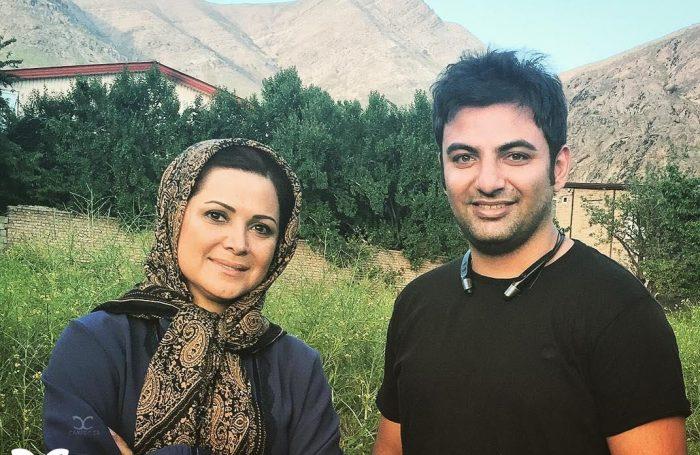 عکس جدید کمند امیر سلیمانی در پشت صحنه سریال پریا
