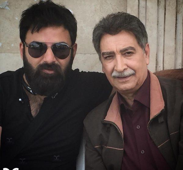 عکس محمود پاک نیت در پشت صحنه سریال پریا