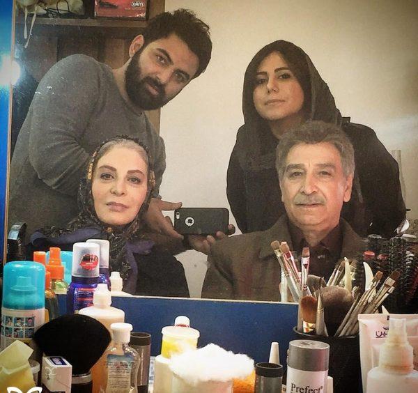 عکس افسانه بایگان در پشت صحنه سریال پریا