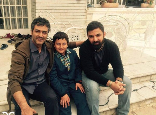 عکس عمار تفتی در پشت صحنه سریال پریا