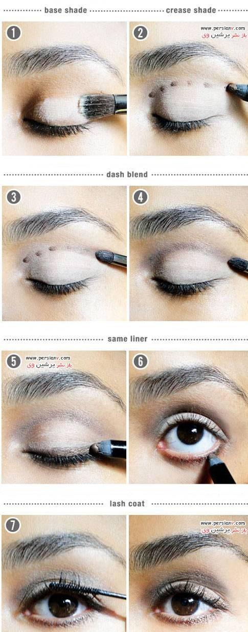 ترفند آرایشی برای مشخص کردن خط سایه چشم