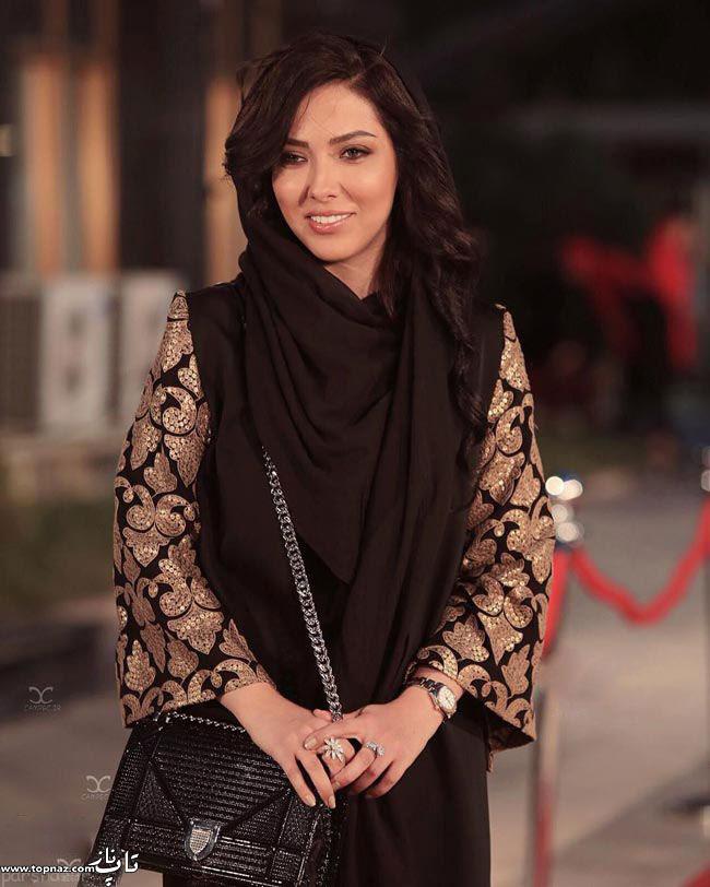 عکس لیلا اوتادی بر روی فرش قرمز جشن حافظ