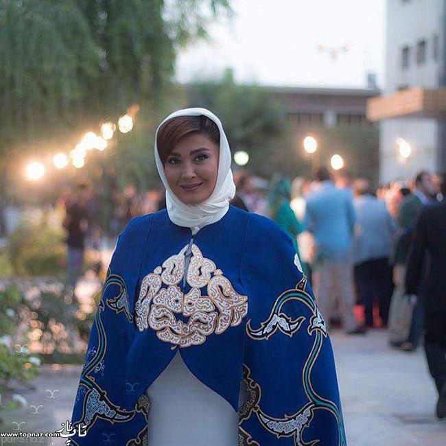عکس مریم معصومی بر روی فرش قرمز جشن حافظ