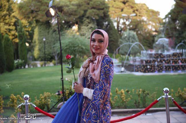 عکس الیکا عبدالرزاقی بر روی فرش قرمز جشن حافظ