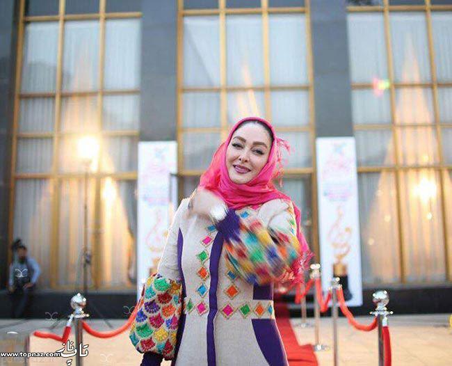 عکس الهام حمیدی بر روی فرش قرمز جشن حافظ