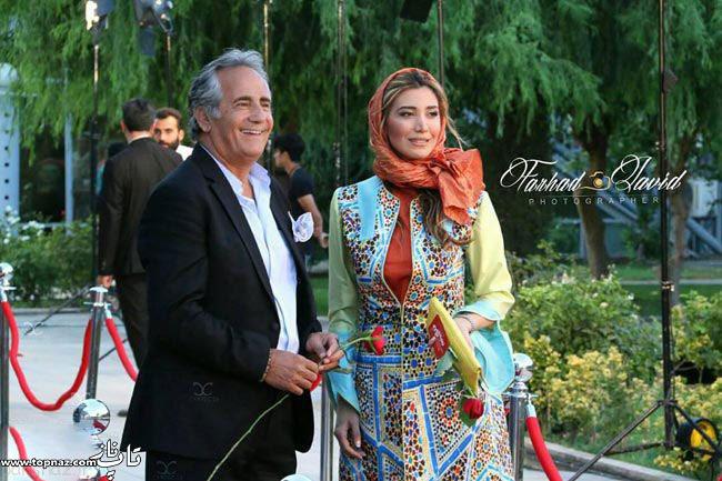عکس  نیکی و مجید مظفری بر روی فرش قرمز جشن حافظ