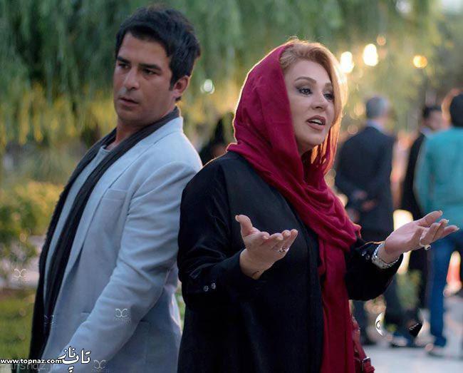 عکس نسرین مقانلو و یوسف تیموری در جشن حافظ