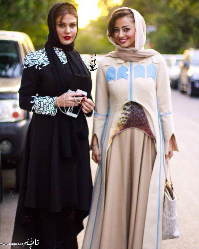 عکس نفیسه روشن و رز رضوی در جشن حافظ