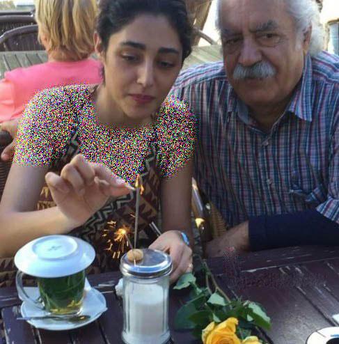 عکس جشن تولد گلشیفته فراهانی در کنار بهزاد فراهانی