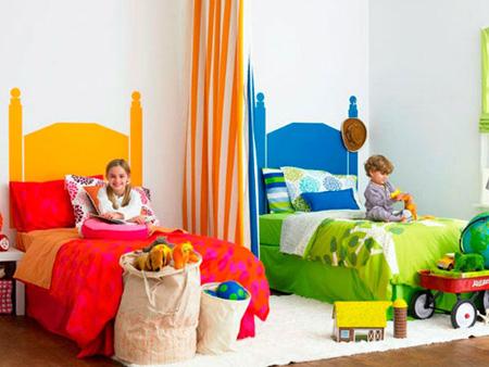 دکوراسیون و چیدمان اتاق خواب دو فرزند