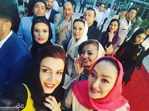 عکس سلفی بازیگران زن ایرانی در جشن حافظ